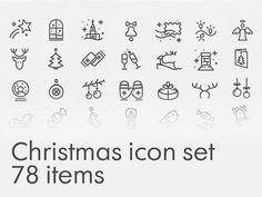 Christmas icon set – Free