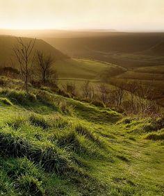 countryside moorland, haworth, west yorkshire, england