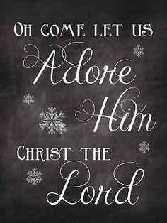 Sweet Blessings: Christmas Chalkboard Printables