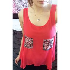 Pippa Lynn Top Pippa Lynn (also available through ASOS) sheer flowy tank with floral pockets.  100% polyester.  Cute and airy top, perfect for spring and summer.  In good preowned condition.  True color best matches first photo.  Size medium.  No trades.  {category2} ASOS Tops