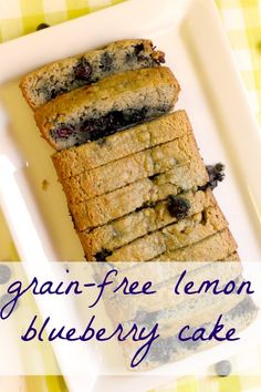 Grain Free Lemon Blueberry Cake (Gluten Free, Paleo-Friendly!)