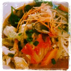 Tom Yum Noodles with mixed seafood - Yum-D #Brixton #streetfood