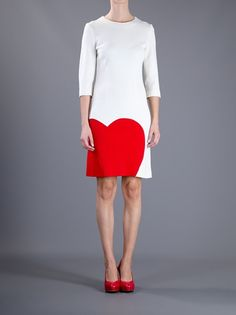 Moschino Heart Dress in White (cream) | Lyst