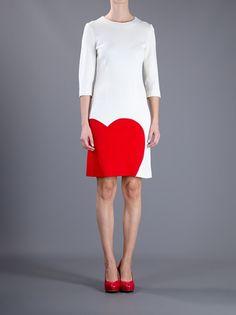 Moschino Heart Dress in White (cream) | Lyst