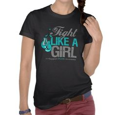 Fight Like a Girl Boxing - PCOS Tshirts