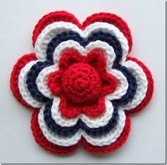 Would you like to make yourself i litle flower? Just find some yarn and a crochet hook that goes with it. Free Pattern