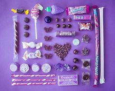 Purple, used to be my favorite color as a kid.Color Coded Candy by Emily Blincoe The Purple, Purple Rain, Purple Stuff, All Things Purple, Shades Of Purple, Purple Food, Candy Art, Eye Candy, Wall Candy