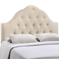Modway MOD-5162-IVO Sovereign Queen Fabric Headboard in Ivory