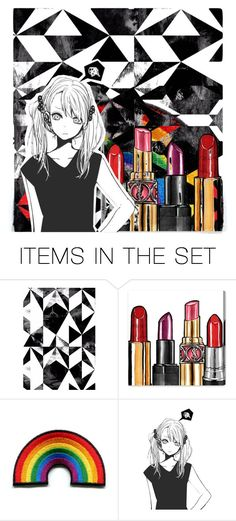 """Black & stick"" by beanpod ❤ liked on Polyvore featuring art"