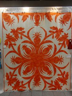 Kauai Quilt Show 2015 - Pineapple and Papaya by J. Watson - 2nd place, Handwork Division