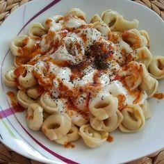 ***I ♥ FaShMeTiK***: Rezept: Gemüse Tortellini mit Soja-Knoblauchjoghurt und zerlassener Paprikabutter!!