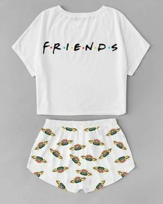 I would like pj sets like this because all mine are old or not comfy. Girls Fashion Clothes, Teen Fashion Outfits, Mode Outfits, Outfits For Teens, Cute Pajama Sets, Cute Pajamas, Cute Pjs, Cute Lazy Outfits, Stylish Outfits