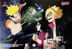Boruto,Sarada,Naruto y Sasuke Kurama Susanoo, Inojin, Boruto And Sarada, Naruto Shippuden, Naruto And Hinata, Sakura And Sasuke, Sasuke Uchiha, Noragami, Fanart