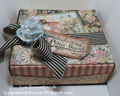 What a stunning altered box by @Lynda Wood Wood Brown Bernatovich from our Ning. Love how she used A Ladies' Diary! #graphic45 #DIY