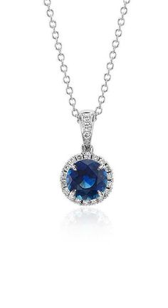 Sapphire and Micropavé Diamond Pendant | Your chance to win a $1000 gift card from #BlueNile!