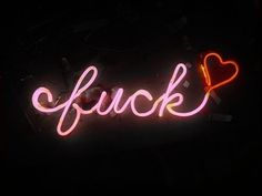 'fuck♡' NEON SIGN ๑෴MustBaSign෴๑