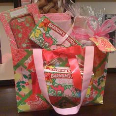 "Lilly Pulitzer ""gift basket"" - I have a bunch of the Lily Barnum Animal Crackers for Aubrey, she loves them!"