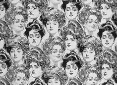 lady face pattern