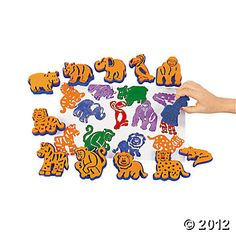Zoo Animal Stamps (much less expensive than Paper Source)