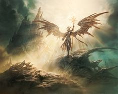 Sunblast Angel by Jason Chan for Magic the Gathering
