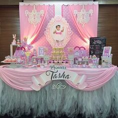 A Princess Ballerina themed partee for sweet little Tasha's 1st birthday!  #princessparty #ballerinaparty #ballerina #1stbirthday #birthdayparty #designerparty #backdrop #candybuffet #partyplannerpenang #partyplannermalaysia #parteeboo #partydesigners #parteebootique #mompreneurs
