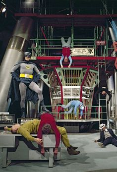 Batman is a American live action television series, based on the DC comic book character of the same name. It starred Adam West as Ba. Batman Y Robin, Batman 1966, Im Batman, Batman Cast, Batman Batcave, Dc Comic Books, Comic Book Characters, Comic Book Heroes, Comic Art