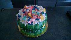 Cakes, flowers, Pink, White, Yellow, green , blue, pois, butterfly, torta, mazzo di fiori, bianco, rosa, blu, giallo, farfalle, verde,dz, mmf, pasta di zucchero, fondent