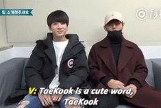 Resultado de imagen de taekook is a cute word