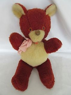 Vintage-Plush-Two-Tone-Cute-Nose-and-Tongue-Teddy-Bear-50s-15