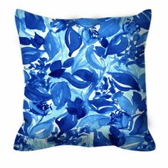 BLOSSOMS UNCHAINED China Blue White Floral Decorative Throw Pillow Cushion Coverby EbiEmporium on Etsy, Colorful Art Flowers Watercolor Painting China Blue Aqua Pattern Modern Elegant Home Decor #throwpillow #floral #blueandwhite #chinablue #blue #pillow #cushion #pillowcover #suede #bedding #bedroom #decor #decorative #pattern #floral #designer #EbiEmporium