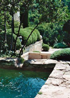 Bamboo Garden, Water Garden, Balcony Garden, Garden Bridge, Landscape Design, Garden Design, Provence Garden, Water Features In The Garden, Small Backyard Pools
