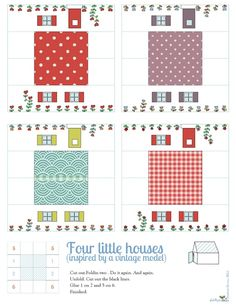 Le lapin dans la lune - Non dairy Diary - Summer houses free printable. Dairy Diary, Diy Paper, Paper Crafts, Miniature Houses, Tiny Houses, Cute Little Houses, House Template, Printable Paper, Free Printable