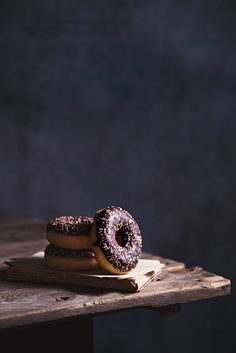 Classic chocolate glazed doughnuts
