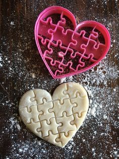 Image of Pieces of my Heart Cookie Cutter Stamp Heart Cookie Cutter, Heart Cookies, Cookie Cutters, Piece Of Me, Cookie Decorating, Food Inspiration, Cake Toppers, Stamp, Sugar