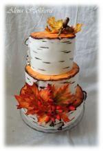 Svatební podzimní dort