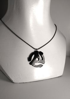 45 RPM Adapter Recycled Vinyl Record Necklace by RandomPrefect, $20.00