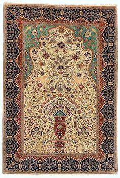 Persian Keshan Mohtashem rug, 1900