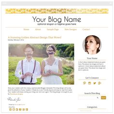 A simple, clean gold blog design. This gold Blogger template will give your blog a modern and sophisticated look. Installation and setup is included with this template.