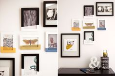 """Color Block Your Wall Art by """"Dipping"""" Your Photos via Brit + Co."""