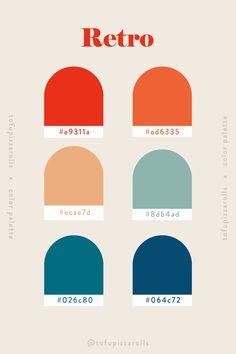 Retro Color Palette, Colour Pallette, Colour Schemes, Color Combos, Adobe Color Palette, Pantone Colour Palettes, Pantone Color, Web Design, Colour Board