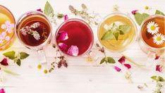 herbal tea on a white wooden background Camomille Romaine, Best Tea, Cholesterol Levels, Edible Flowers, Herbal Tea, Herbal Medicine, Drinking Tea, Panna Cotta, Herbalism