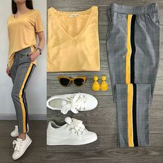 #ست_پیشنهادی_استیج سفارش_از_تلگرام_09210501408 @shoppingstage1 Sence? Harika Pantolon 59.99TL // Basic 19.99TL // Ayakkabı 69.99TL // 3lü Kombin 139.99TL Casual Fall Outfits, Simple Outfits, Stylish Outfits, Cool Outfits, Fashion Mode, Teen Fashion, Korean Fashion, Fashion Outfits, White Converse Outfits