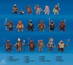 Took so long for Hasbro to come around to giving us a decent smattering of ewoks. I blame the haters.