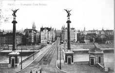 Most Svatopluka Čecha po dostavbě v roce 1908 Old Paintings, More Pictures, Czech Republic, Time Travel, Military, City, Twitter, Bridges, Prague