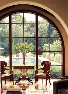 Amazing view...fantastically framed by the arched window...
