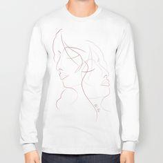 Authîel Minimalist Long Sleeve T-shirt by weivy Graphic Shirts, Graphic Sweatshirt, Hoodies, Sweatshirts, Chiffon Tops, Ivy, Classic T Shirts, Minimalist, Pullover