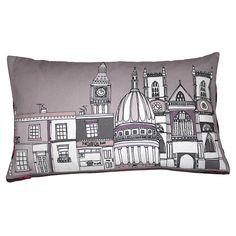london buildings cushion by helena carrington   notonthehighstreet.com