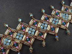 Bugle, Seed Beads and Swarovski Crystal Bracelet
