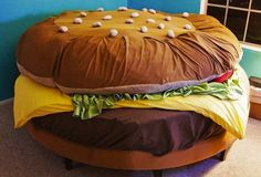 Unique Hamburger Bedding Sets in Kids Bedroom Design Ideas