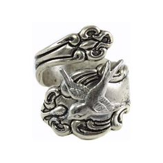 Bird Spoon Ring, Silver Bird Spoon Ring, Sparrow Bird Ring, Swallow Bird Ring, Sparrow spoon ring, Swallow Spoon Ring by MyLimoIsWaiting on Etsy https://www.etsy.com/listing/168242956/bird-spoon-ring-silver-bird-spoon-ring
